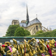 Stock Photo: Notre Dame Cathedral from bridge