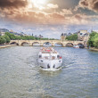 The boat on the Seine — Stock Photo #40568105