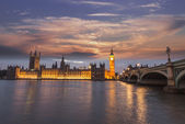 Beautiful view of Westminster by night — Stock Photo