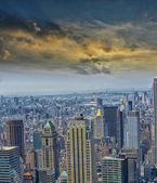 Beautiful aereal view of Manhattan — Stock Photo