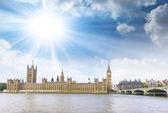 Westminster with beautiful sky — Stok fotoğraf