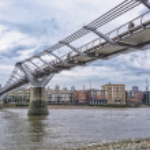 The Millenium Bridge — Stock Photo