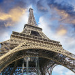 The Eiffel Tower from below — Stock Photo