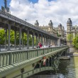 Stock Photo: Bridge over river Seine