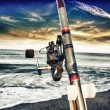 Stock Photo: Fishing rod