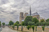 Beautiful sky over Notre Dame, Paris — Stock Photo