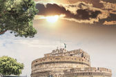 Castel St. Angelo with beautiful sky, Rome — Stock Photo