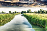 Little river with beautiful sky — Stockfoto