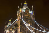 Detail of Tower Bridge by  night. — Zdjęcie stockowe