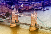 Aereal view of the London Bridge — Stock Photo
