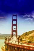 красивый вид на мост золотые ворота — Стоковое фото