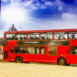 The red double decker bus. — Stock Photo #44867031