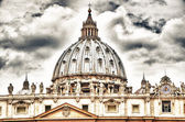"Detail of the Palace of the Vatican, ""The Dome"" with beautifull  — Foto de Stock"