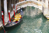Gondola in a little canal in Venice — Stock Photo