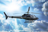 Helicopter for sightseeing — Stock Photo