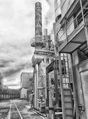 промышленное оборудование с трубами — Стоковое фото