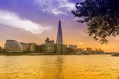 London skyline from the Thames — Zdjęcie stockowe