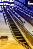 Escalator on Canary Warf Station, London — Stock Photo