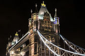 Details of Tower Bridge by night — Foto Stock