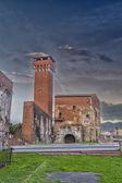 Cittadella: stary budynek wzdłuż rzeki arno — Zdjęcie stockowe