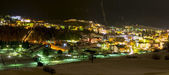 Panoramic view about Andalo city by night — Stock Photo