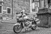 Motocycle police in Rome — Stock Photo