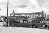 The red double decker bus. — Stock Photo