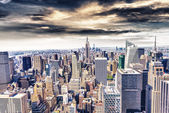 Beautiful view of  New York City skyline — Stock Photo