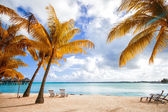 Beautiful view of the beach in Polynesia — Stock Photo