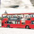 The red double decker bus. — Stock Photo #48071099