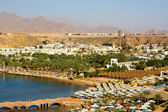 Panorama of a view of a beach from height. Egypt. Sharm el-Sheik — Stock Photo