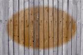 Cerca de madeira vertical feito de tábuas velhas. — Fotografia Stock