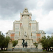 Madrid - Cervantes monument on Plaza España. — Stock Photo