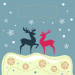 Royalty-Free Stock Vector Image: The vector illustration of reindeers