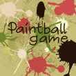 Paintball game — Stock Vector