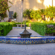 Stock Photo: Fountain in Alcazar Garden at Balbopark, SDiego