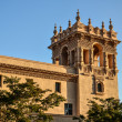 Stock Photo: Spanish Architecture based Tower bathed in golden sunlight at Ba