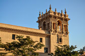 Spanish Architecture based Tower bathed in golden sunlight at Ba — Stock Photo
