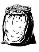 Bolsa de monedas — Vector de stock