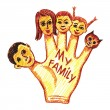 Child's drawing of my family — Stock Vector #42153447
