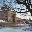 Hermann castle of Narva fortress winter landscape — Stock Photo