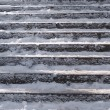 Stock Photo: Snow covered stair case composition