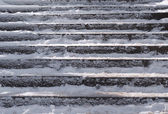 Snow covered stair case composition — Stock Photo