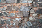 Stone and brick old wall as abstract background — Stock Photo