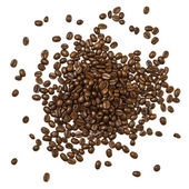 Shot from above pile of coffee beans — Stock Photo