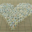 Royalty-Free Stock Photo: Heart shape of transparent balls