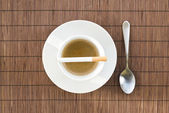 Cup of coffee and cigarette composition — Stock Photo