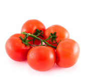 Bunch of red tomato over white background — Stock Photo