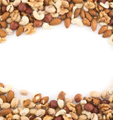 Mandeln, pistazien, erdnuss, walnuss, haselnuss-mix — Stockfoto
