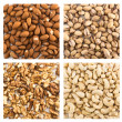 Almond, pistachio, peanut, walnut backgrounds — Stock Photo #25521383